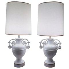Giacometti Style Ceramic Lamps
