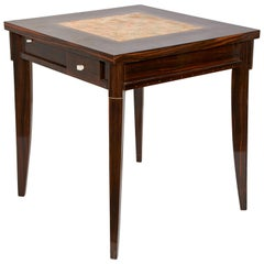 Clement Rousseau Macassar Games Table with Shagreen Top