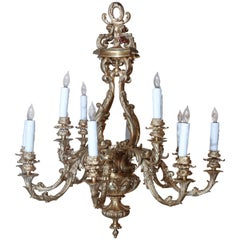 Highest Quality Cast Bronze Doré Louis XV Style Chandelier