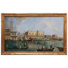 Oil Painting of Venice by the School of Giovanni Batista