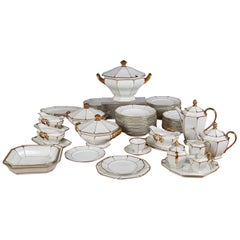 Bavarian Gilt Porcelain Art Deco Dinner and Dessert Service
