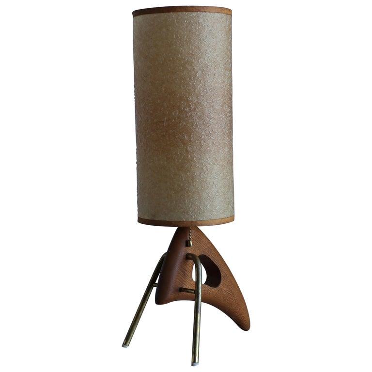 1950s Sculptural Modernist Table Lamp
