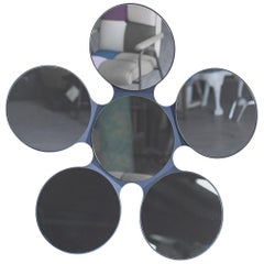 Modern Italian Circular Six Glass Petal Mirror Italy