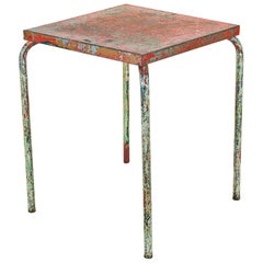 Jean Prouvé Distressed Cafe Table