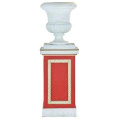 Jean Michel Frank Plaster Urn on Christian Berard Pedestal