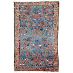 Vintage Persian Hamedan Malayer Rug