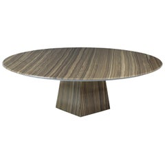 Cosmo, Contemporary Round Marble Coffee Table in Eramosa