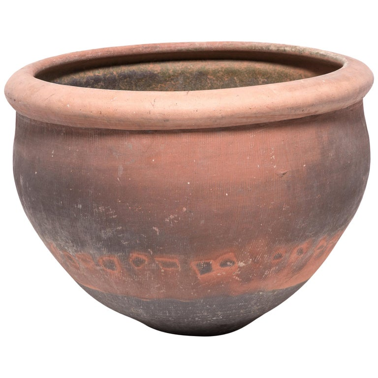 Monumental Chinese Terracotta Vessel
