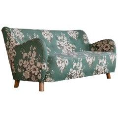 Three-Seat Sofa by Flemming Lassen, Denmark, 1940s