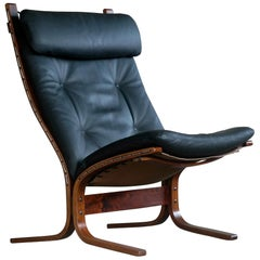 "Classic Ingmar Relling Easy Chairs Model ""Siesta"" for Westnofa, Norway"