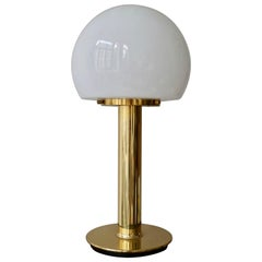 Table Lamp in Brass and Murano Glass