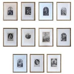Set of 11 Framed Furne & Perrotin Engravings, circa 1850