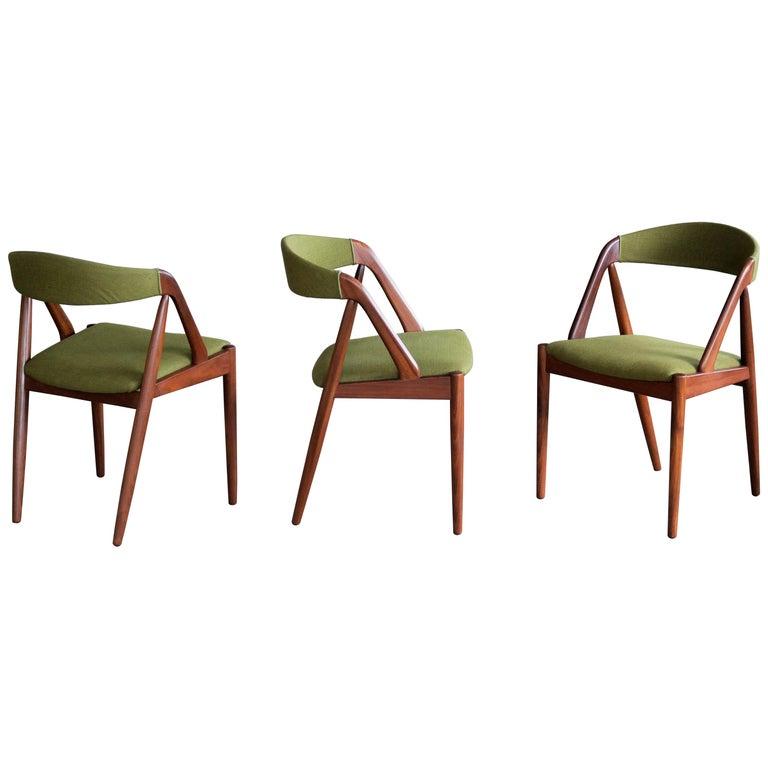 Kai Kristiansen in Teak Dining Chairs Model 31 for Schou Andersen