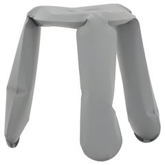Standard Plopp Stool in Matte Gray Aluminum by Zieta
