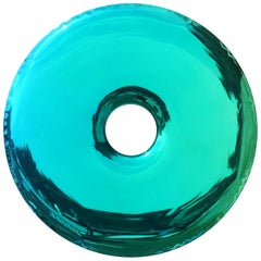 Limited Edition Rondo 75 Gradient Mirror in Green Stainless Steel by Zieta