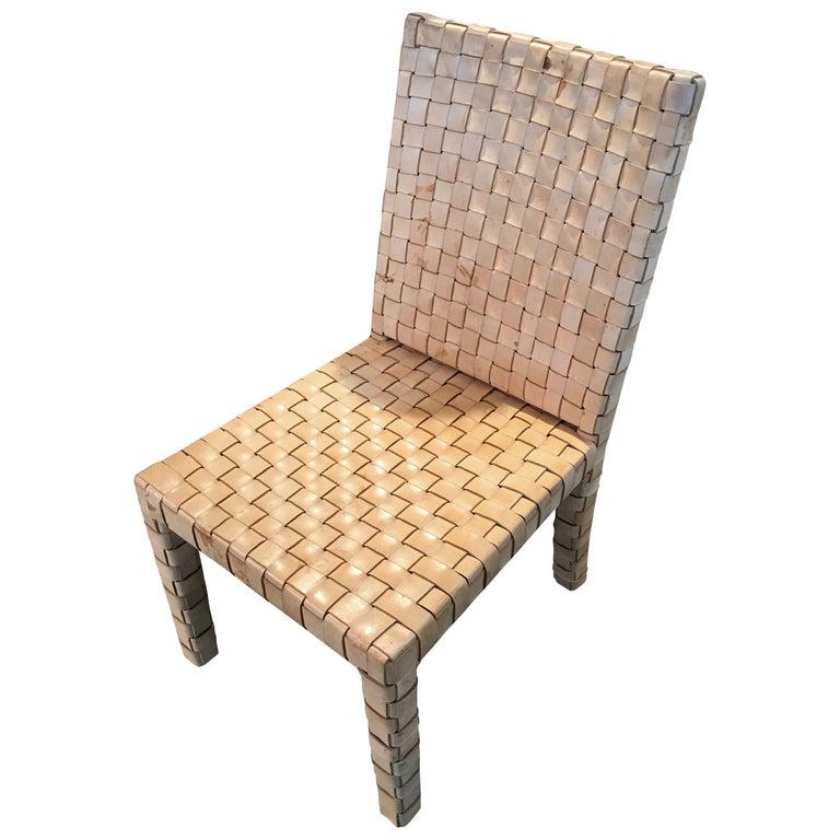 Ralph Lauren Woven Leather Accent Chair