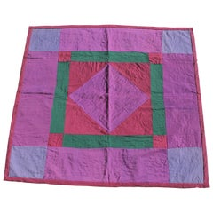 Amish Diamond in a Square Wool Crib Quilt