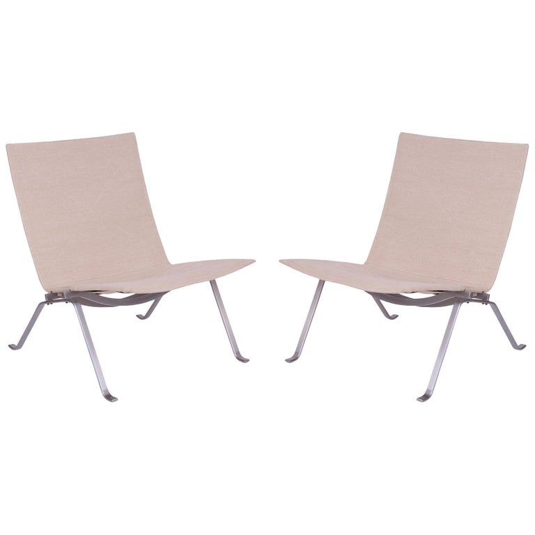 Poul Kjaerholm PK-22 Lounge Chairs