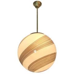 Italian Murano Glass Globe Pendant