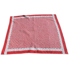 Antique Quilt - 20th Century Mini-Triangles Quilt Red and White