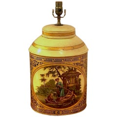 Antique English Chinoiserie #6 Tea Caddy Lamp