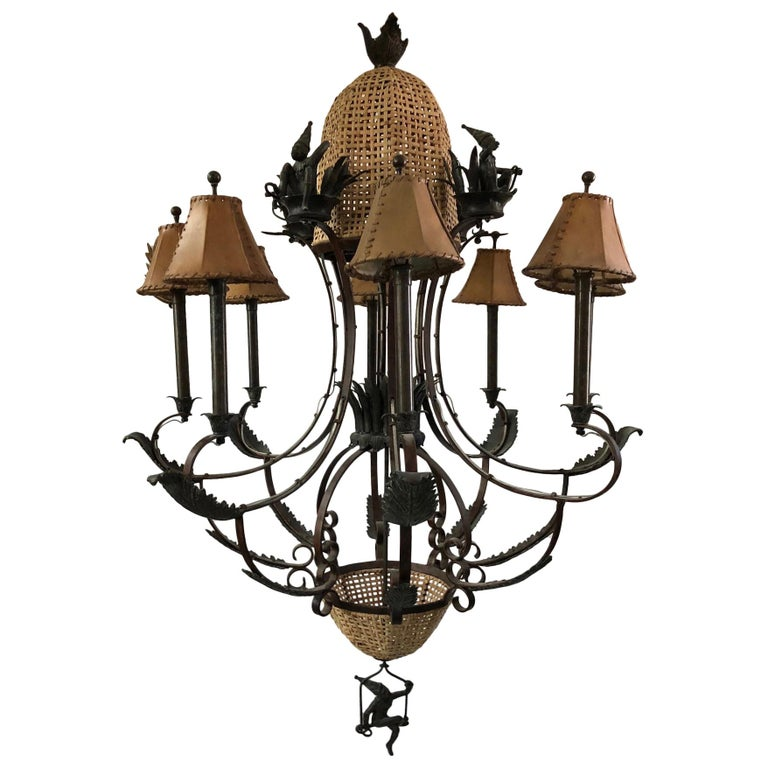 """Monumental """"Monkey"""" Appointed Chandelier For Sale"""