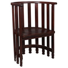Arts & Crafts Prairie Frank Lloyd Wright School Mahogany Spindle Chair