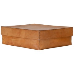 Large Leather Portfolio Box by Arte & Cuoio