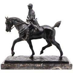 Equestrian Statue of a Huntsman, Gaston D'Illiers, France