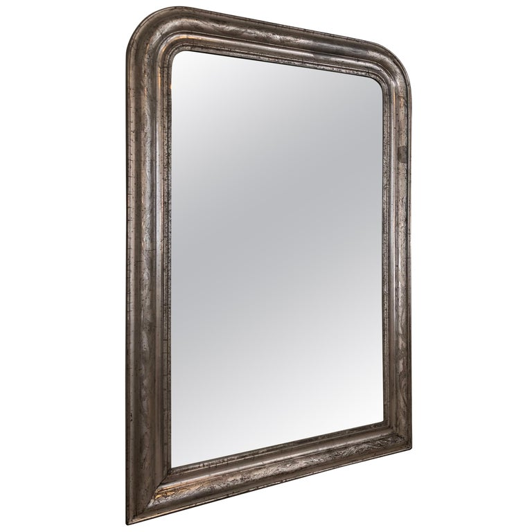 French Luis Philippe Silver Mirror For Sale