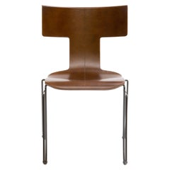 Donghia Anziano Occasional Chair in Cognac Leather