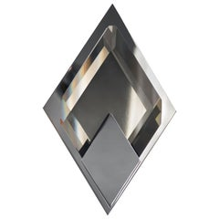 Donghia Bijou Diamond Sconce in Sepia Glass with Polished Nickel Finish