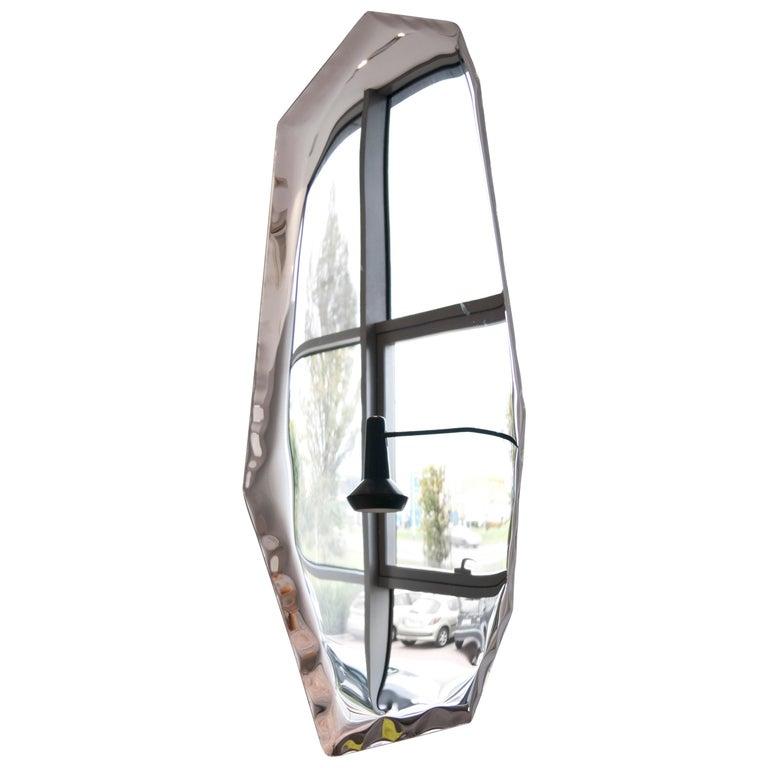 Contemporary 'Tafla C4' Mirror in Stainless Steel by Zieta Prozessdesign
