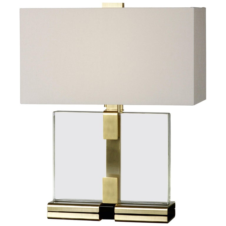 Donghia Clara Table Lamp And Shade Clear Murano Gl With Satin Gold Base For