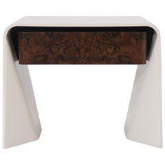 Donghia Tendu Lacquered Wood End Table in Parchment