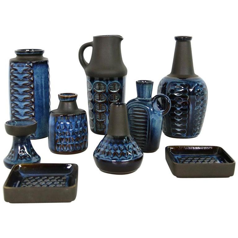 Collection of Midcentury Ceramics Vases & Bowls Einar Johansen for Soholm, 1960s For Sale