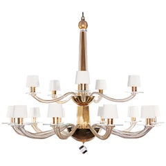 Donghia Stellare Grande Chandelier, Murano Glass in Gold Dust