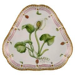 Royal Copenhagen Flora Danica Triangular Porcelain Dish