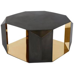 Donghia Origami Cocktail Table in Brass with Polished Mirror Finish