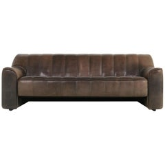 1970s Vintage De Sede DS 44 Three-Seat Buffalo Leather Sofa, Brown