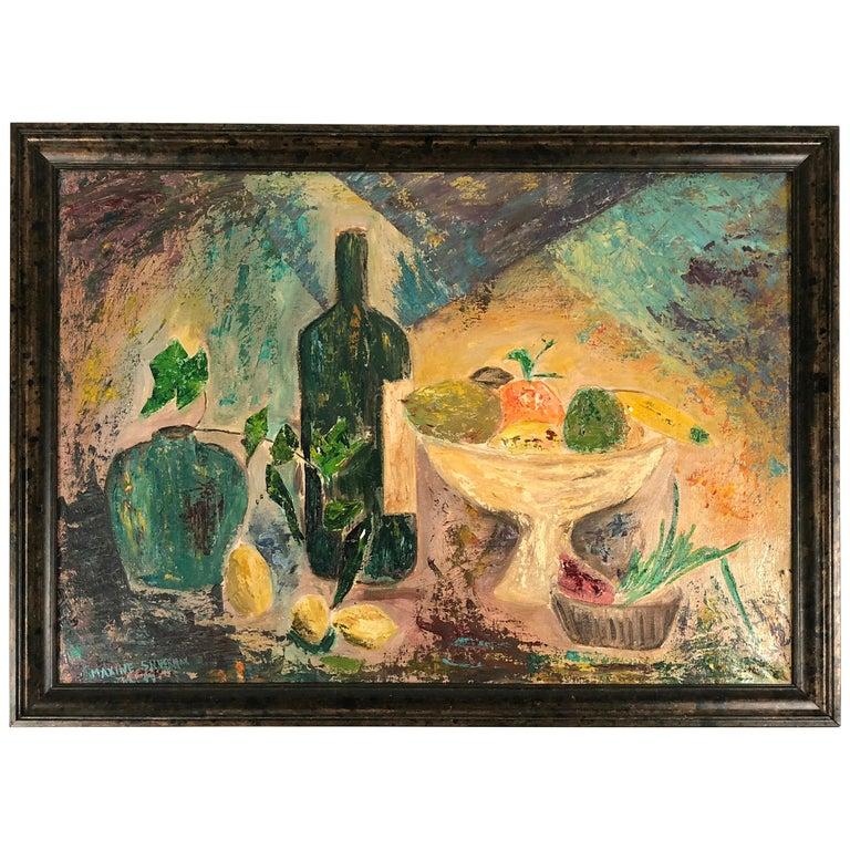 Modernist Fruit Still Life Painting