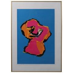 """Karel Appel """"Animal"""" Silk Screen, 1970"""