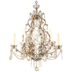 French 19th Century Crystal Cut Chandelier