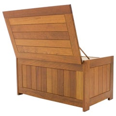 Teak Wood Blanket Box Chest by O Schjøll & B.K. Handest for Randers Denmark 1966