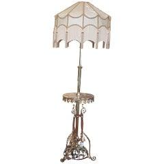 Early 20th Century Brass Steamer Standard Lamp