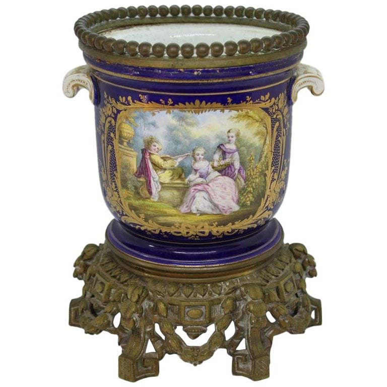 Covered Pot by Creil and Montereau Manufacture 19th Century