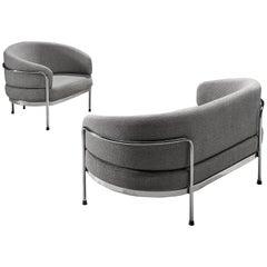 Hans Ell for 'T Spectrum Grey Living Room Set