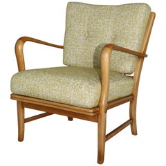 Art Deco Club Armchair in Yellow Color from 20th Century
