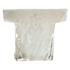 Mid-Century Modern Clear Lucite Lovers Relief Sculpture