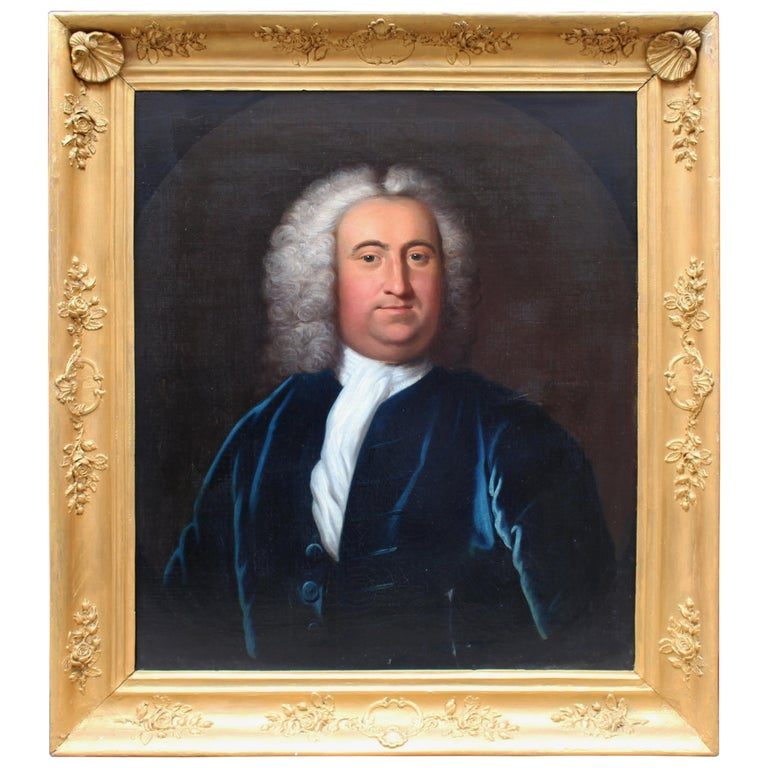 Fine Late 18th Century Portrait of a Gentleman Oil on Canvas
